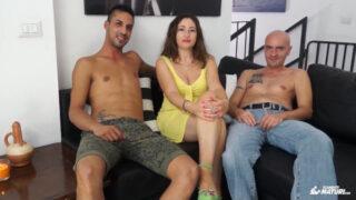 Trio con Eva Ferrari